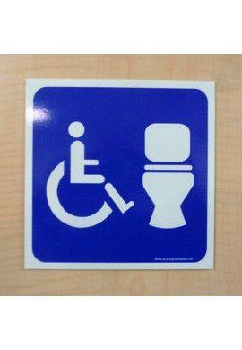 Plaque de porte WC Homme handicapé