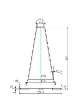 Cône de Signalisation 1 bande - 300mm- Classe2
