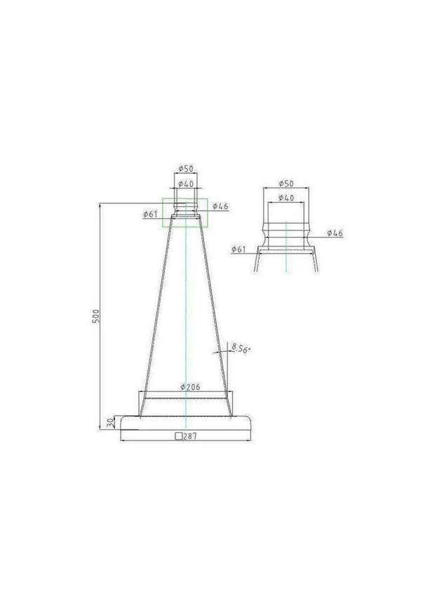 Cônes de Signalisation Classe 2 - 2 bandes - 500mm