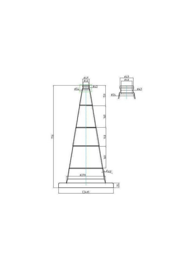 Cônes de Signalisation Classe 2 - 2 bandes - 750mm