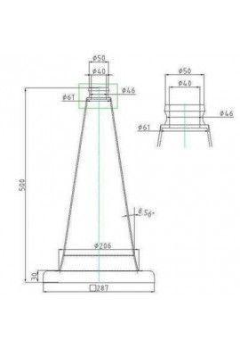 Cônes de Signalisation Neutre/Non Retro - 2 bandes - 500mm