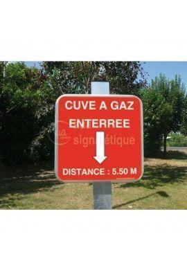 Panneau Sur-Mesure alu type routier carré CA