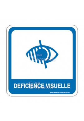 Déficience visuelle PvcSign