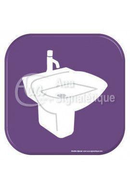 Autocollant Vinylopicto  lavabo