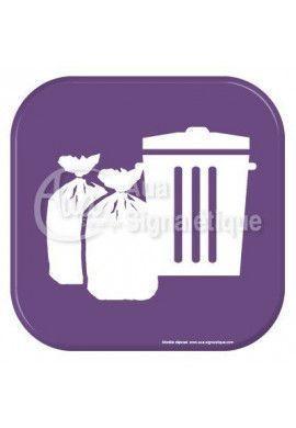 Autocollant Vinylopicto local poubelle