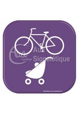 Autocollant Vinylopicto local vélos pousettes