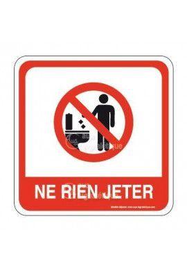 Ne rien Jeter dans les WC PvcSign