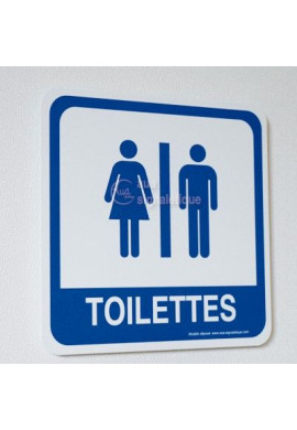 Toilettes mixte PvcSign