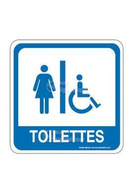 WC femme handicapé PvcSign