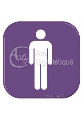 Autocollant Vinylopicto Toilettes hommes