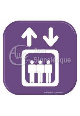 Autocollant Vinylopicto ascenseur