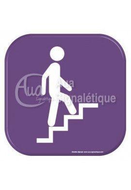 Autocollant Vinylopicto Escaliers montants