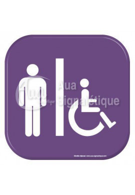 Autocollant Vinylopicto  WC Homme handicapé