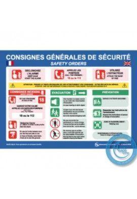 Consignes Générales de Sécurité Français/Anglais - H