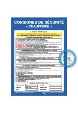 Consignes de Sécurité Chaufferie