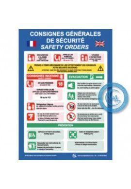Consignes Générales de Sécurité Français/Anglais