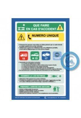 Consignes de sécurité en cas d'Accident