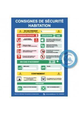 Consignes de Sécurité Habitation