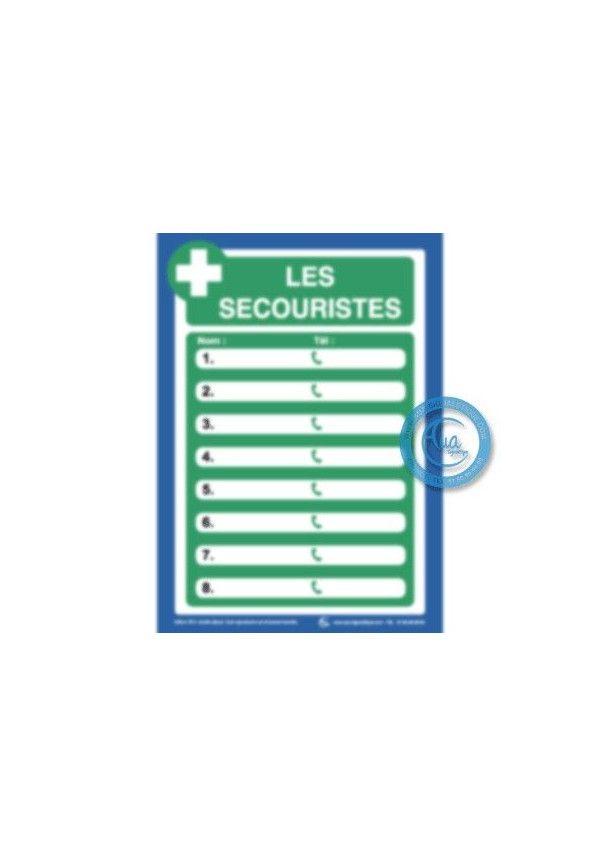 Consignes de sécurité Les Secouristes