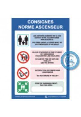 Consignes Norme Ascenseur Sans Logo