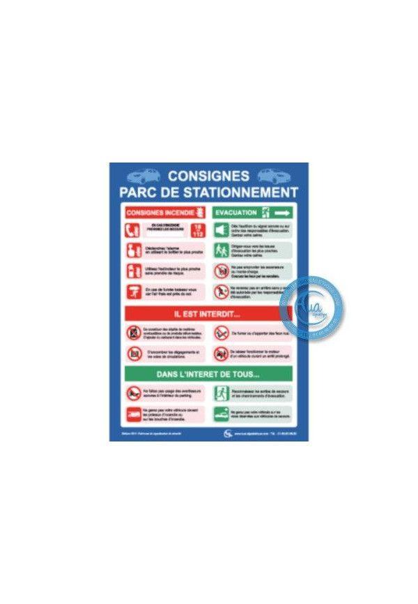 Consignes de sécurité Parc de Stationnement