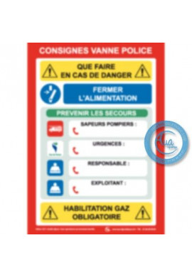 Consigne Vanne police