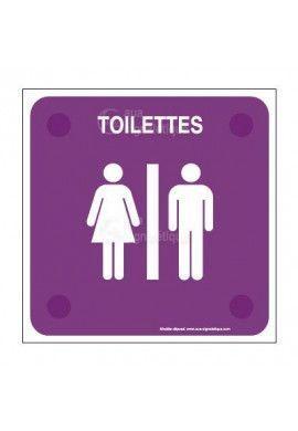 Toilettes H/F PlexiSign