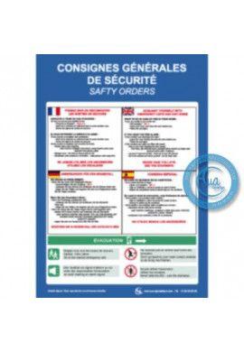Consignes de sécurité 4 langues