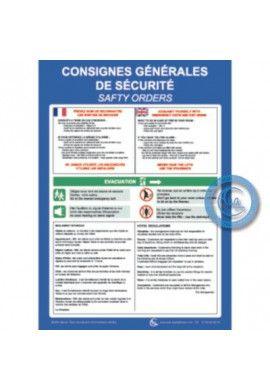 Consignes de sécurité 2 langues