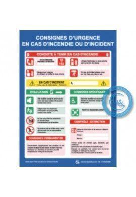 Consigne Urgence couloirs hôpitaux