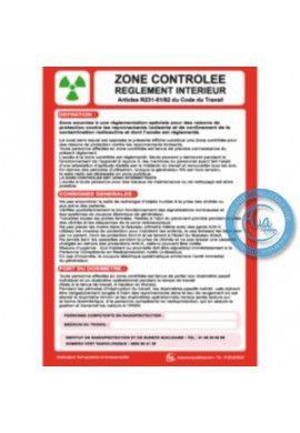 Consigne Générales de Sécurité Zone contrôlée