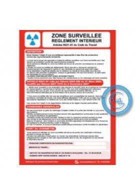 Consigne Générales de Sécurité Zone surveillée