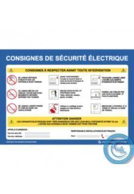 Consignes de Sécurité Electrique