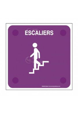 Escaliers descendant PlexiSign