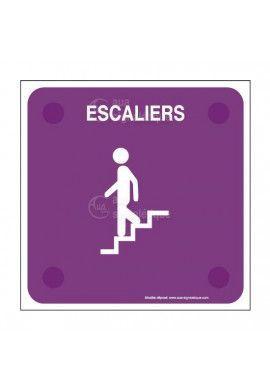 Escaliers descendant PlexiSign