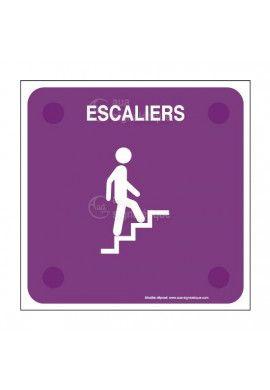Escaliers montant PlexiSign