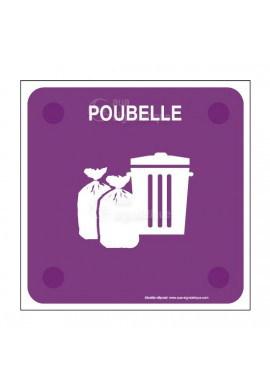 Local poubelle PlexiSign