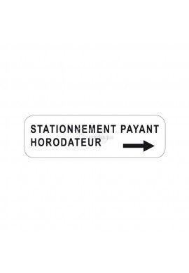 Panonceau stationnement payant horodateur - M6e