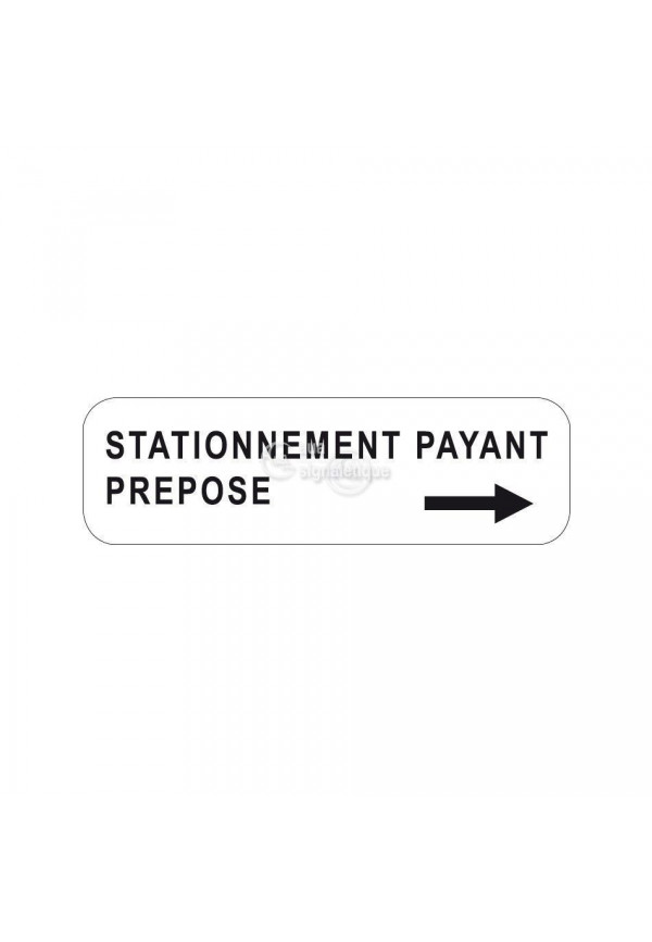 Panonceau stationnement payant préposé - M6e