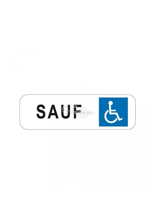 Panonceau stationnement réservé handicapé - M6h