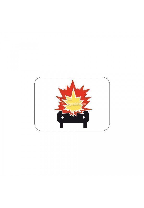 Panonceau véhicule avec matière inflammable - M4k
