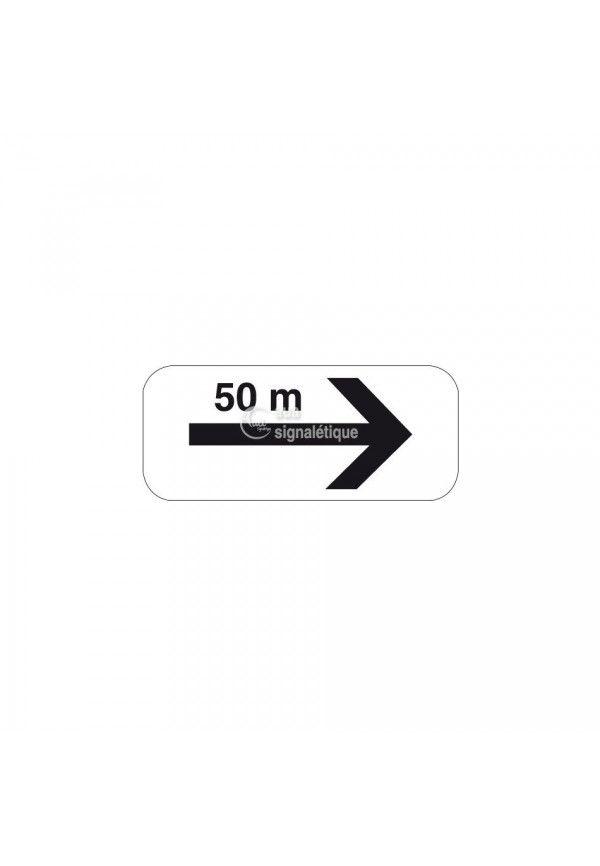 Panonceau flèche de section avec distance - M8d-bis