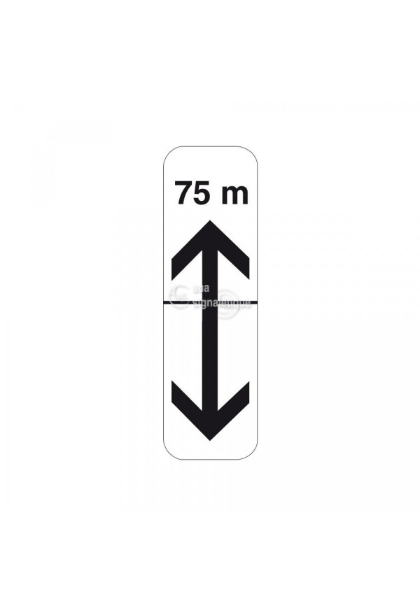 Panonceau flèches de section avec distance - M8c-bis