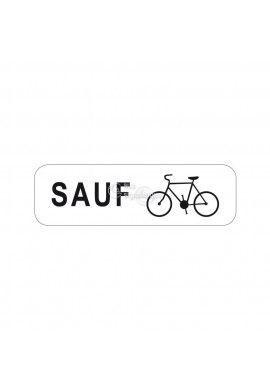 Panonceau Sauf vélos - M9v2