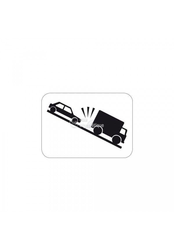 Panonceau risque de heurt de véhicule - M9j1