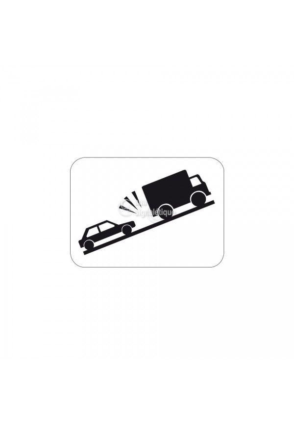 Panonceau risque de heurt de véhicule - M9j2