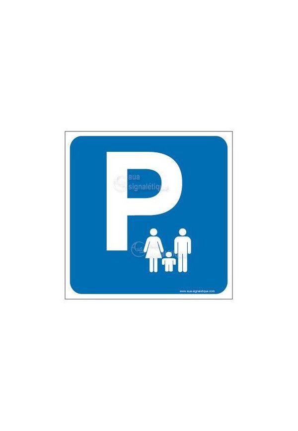 Panneau Parking Famille