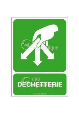 Panneau Dechetterie
