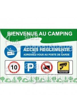 Panneau Bienvenue au Camping