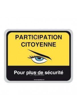Panneau Participation Citoyenne -  Plus de sécurité - AP